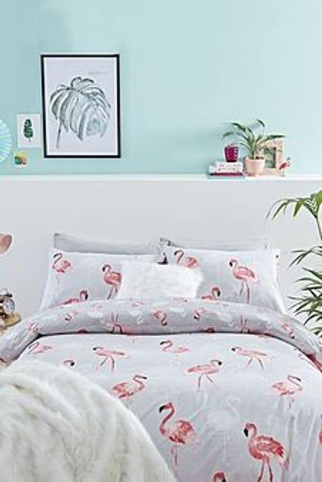Flamingos Love Duvet Set Single