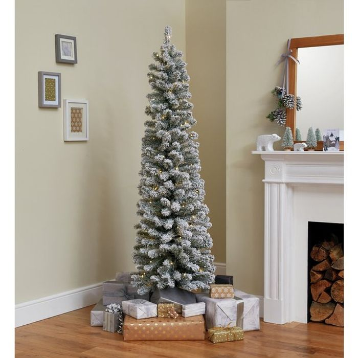 Cheap Argos Home 6ft Pre-Lit Snow Tipped Christmas Tree - Green Only £35