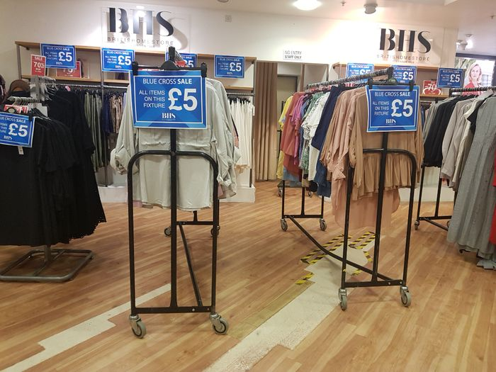 £5 and £1 in Beales Bournemouth