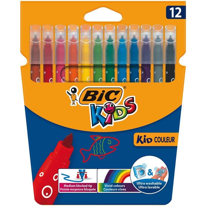 Bic Kids Visa Colouring Felt Pens 12 Pack