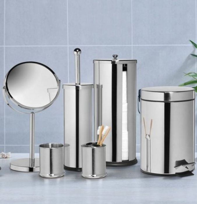 Stainless Steel 6-Piece Bathroom Set on Sale From £59.99 to £19.99