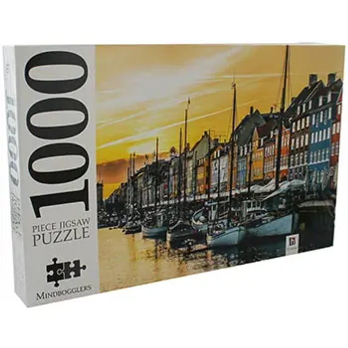Cheap Nyhavn Copenhagen 1000 Piece Jigsaw Puzzle - Save £6
