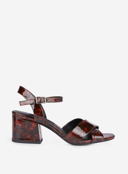 Animal Print Heeled Sandals at Dorothy Perkins