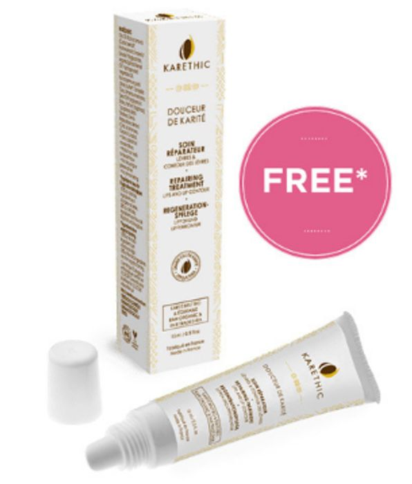 BEST DEAL! Free Douceur De Karite Sweet Lip Balm with Karethic Orders over £40