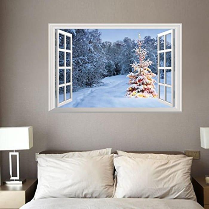Xmas 3D Wall Stickers Christmas Decoration at Amazon