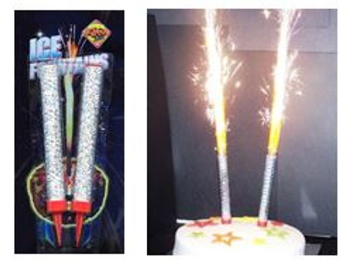 Special Offer PUT SOME WOW! IN YOUR CAKE! Silver Ice Fountains FREE DELIVERY