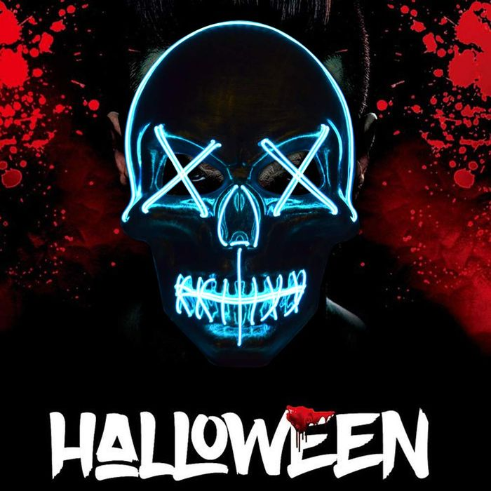 Deal Stack - Halloween LED Scary Mask - 50% off + Extra 10%