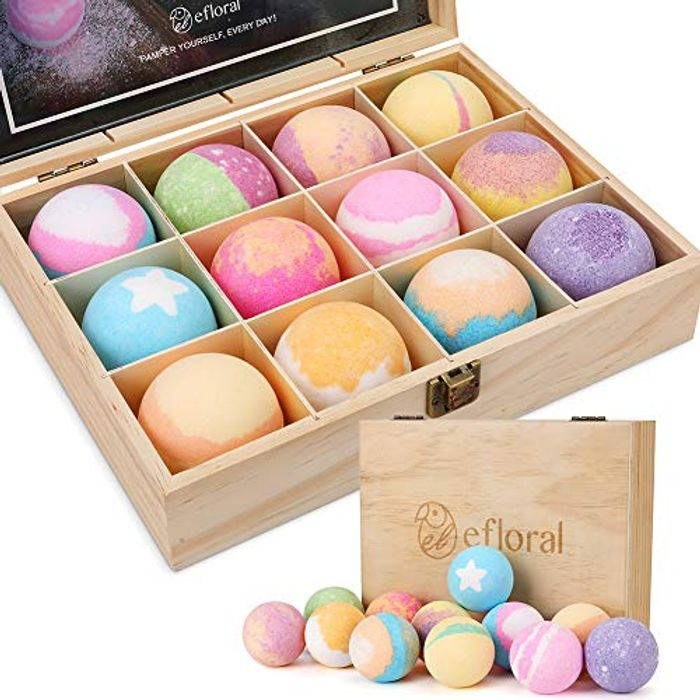 12 X Bath Bombs in Lovely Gift Box 50% Off!