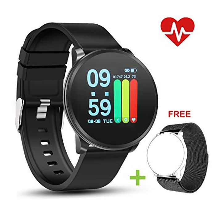 Smart Watch with Activity Tracker Heart Rate Monitor Sleep Tracking IP67