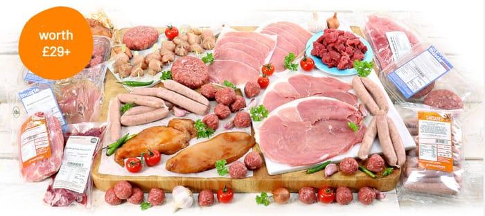 50 Piece Meat Hamper for £1 When You Buy £39 Hamper