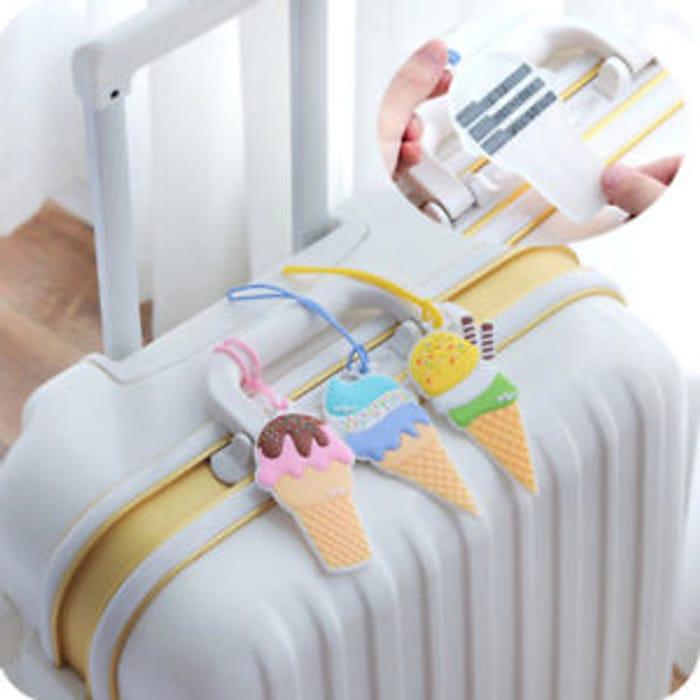 Best Price! Tag Cover Creative Ice Cream Silica Gel Suitcase Travel Accessories
