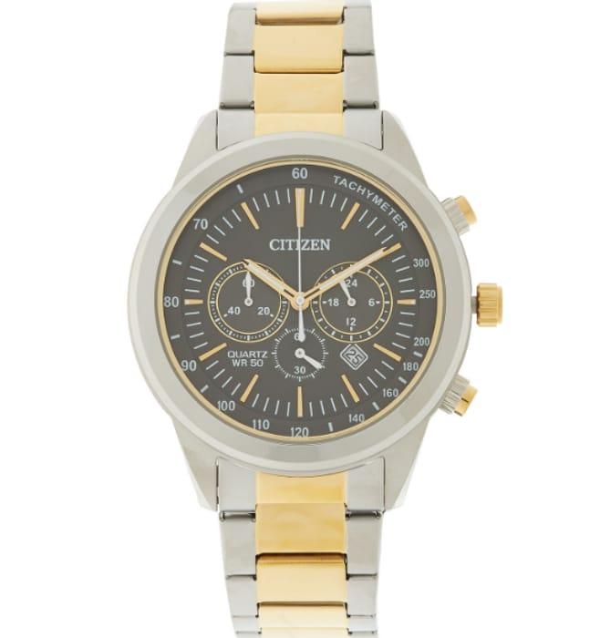 CITIZEN Silver & Gold Tone Chronograph Watch