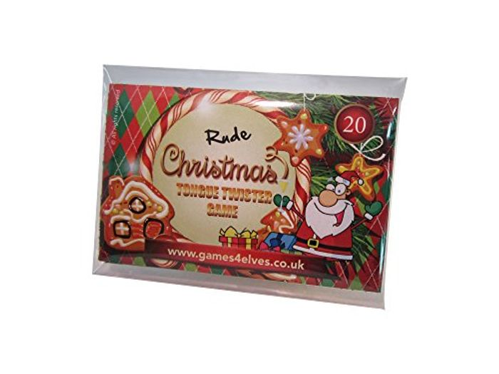 RUDE TONGUE TWISTERS Christmas Game Cards Innuendo