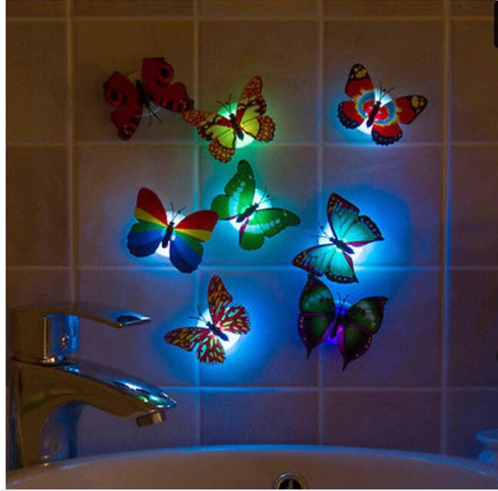 Best Price Colorful Changing Lamp Cute Led Night Light Shape Room Bar Decor