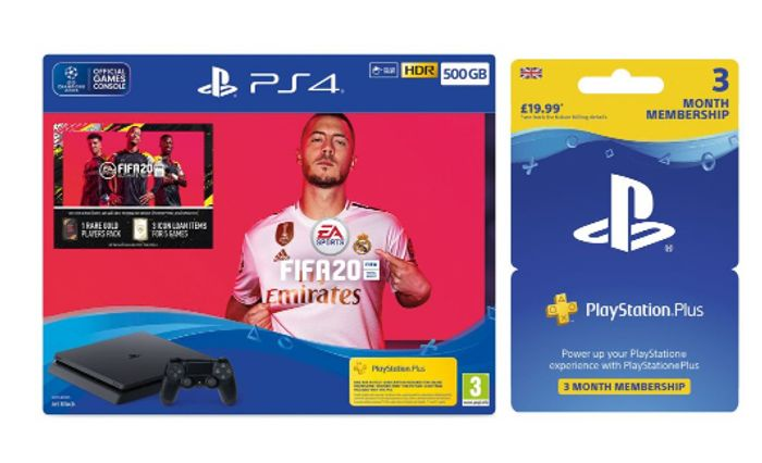 SONY PlayStation 4 FIFA 20 & PlayStation plus 3 Month Subscription Only £239