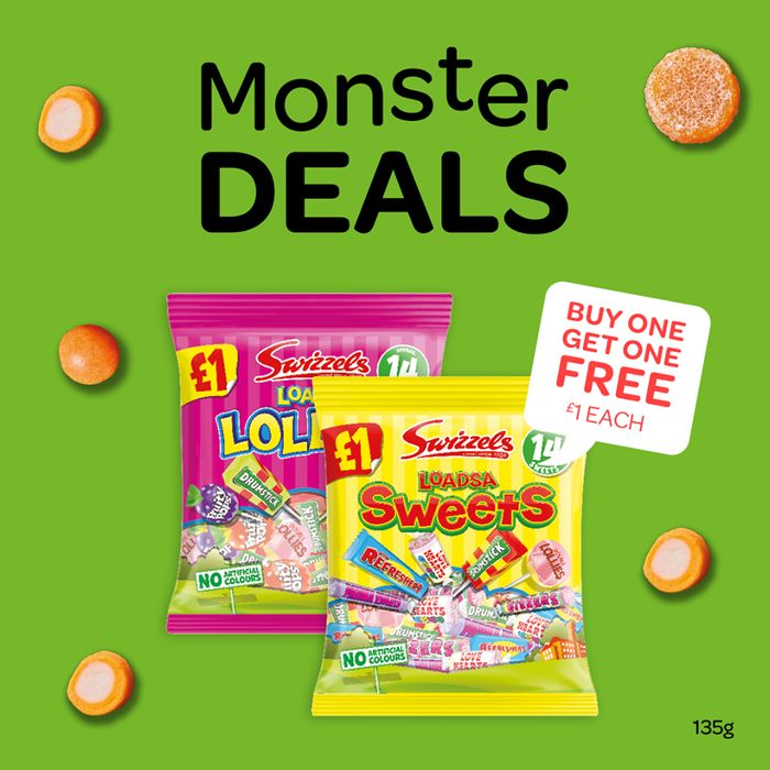 Swizzels Loadsa Sweets,Lollies, Chews Any Packs for £1
