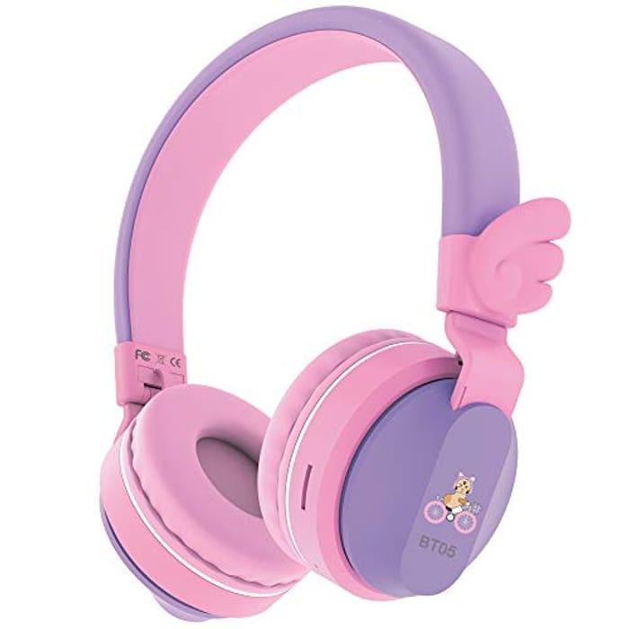 Headphones, Riwbox BT05 Wings Kids Headphones