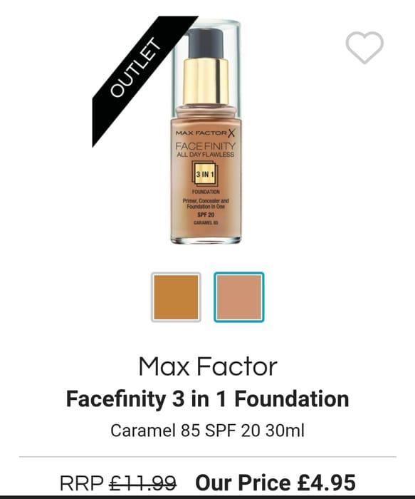 Max Factor Facefinity 3 in 1 Foundation Caramel 85 SPF 20 30ml