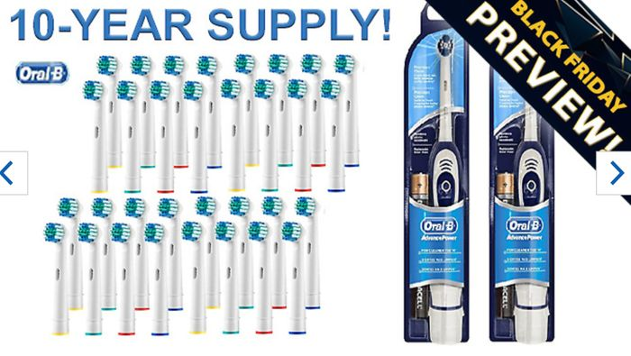 10 Years worth of Oral B Compatible Toothbrush Heads + 2 Battery Toothbrushes!