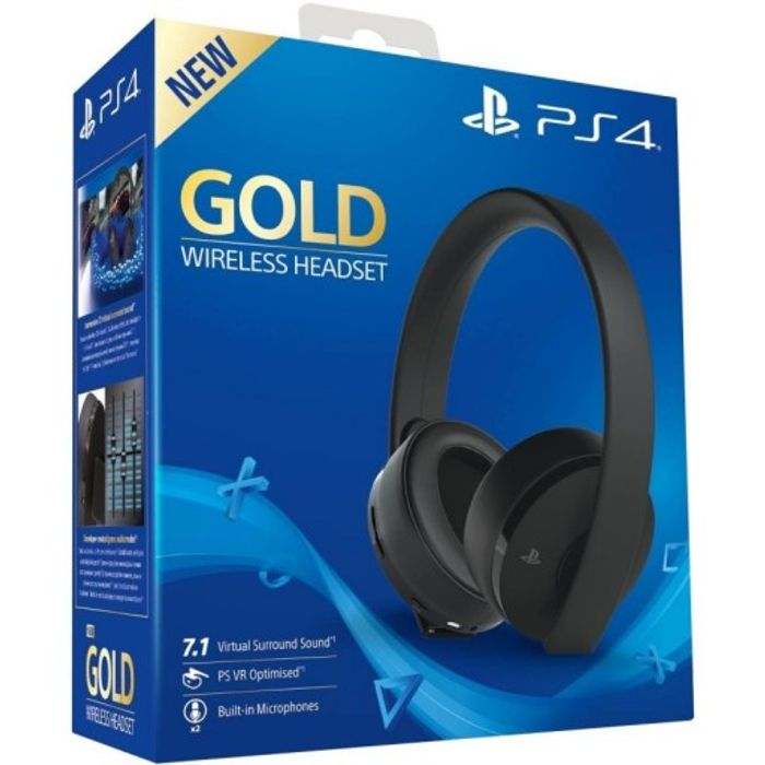 Playstation 4 Gold Wireless Headset on Sale From £59.97 to £49.95