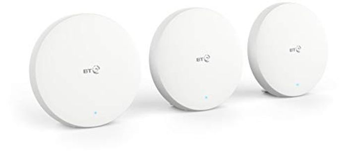 BT Mini Whole Home Wi-Fi, Pack of 3 Discs, Mesh Wi-Fi for Seamless