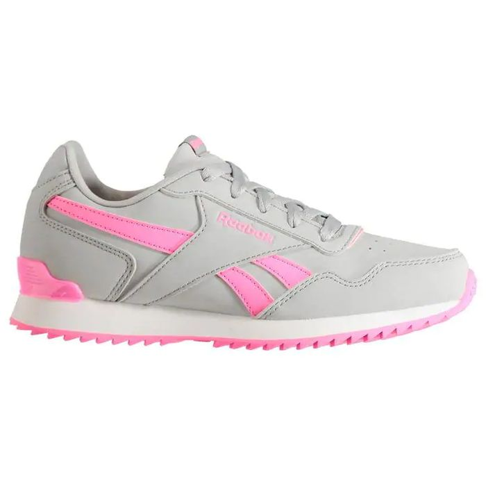 Reebok Glide Rip Clip Child Girls Trainers - Grey/Pink
