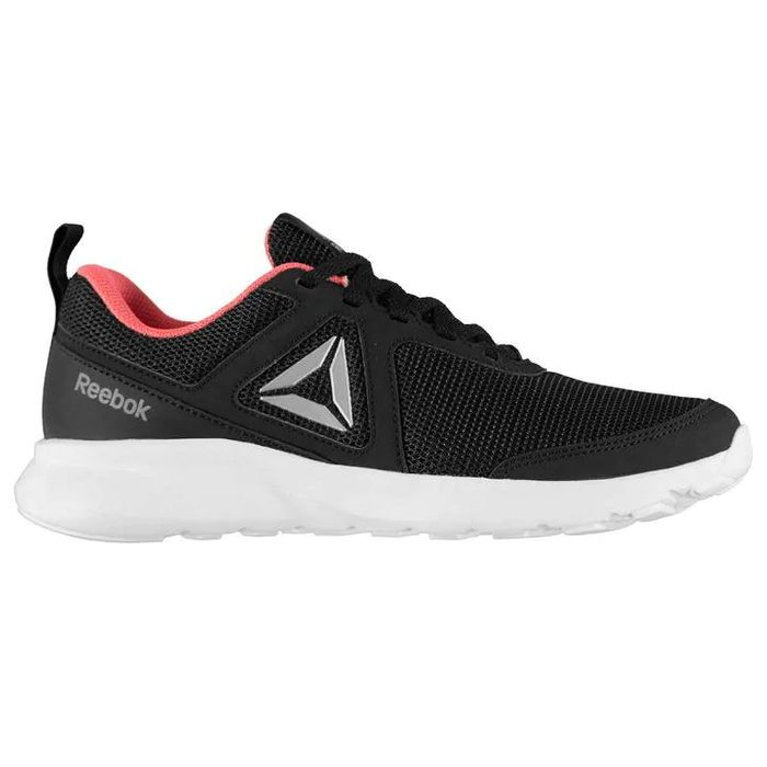 Reebok Quick Motion Ladies Trainers Black or Neon Red