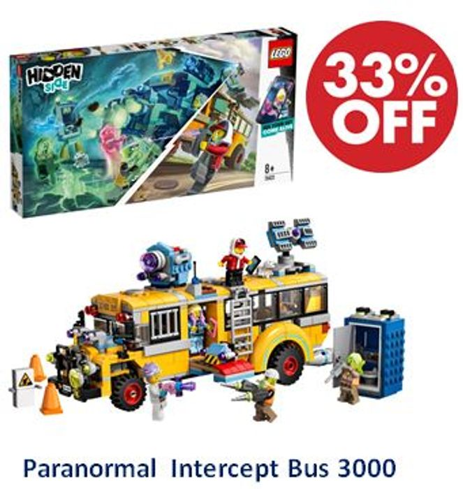 SAVE £18 - LEGO Hidden Side - Paranormal Intercept Bus 3000 (70423)