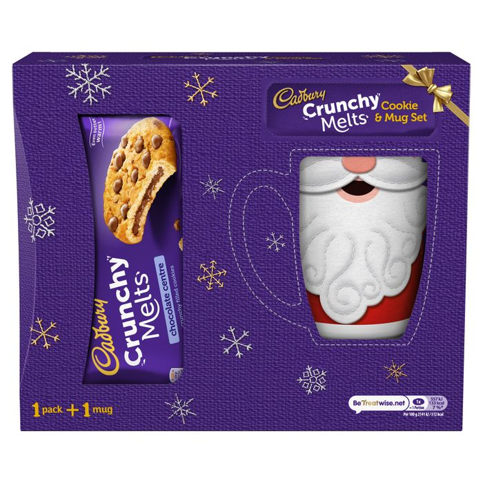 Cadbury Crunchy Melts Cookie 156G & Christmas Mug Set
