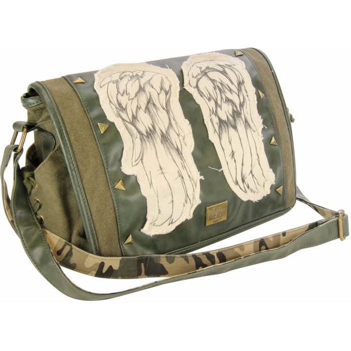 The Walking Dead Daryl Dixon Green Mini Messenger Bag