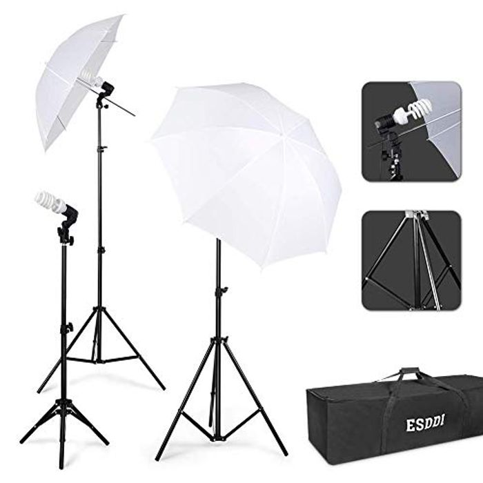 55% Off Photography Lighting with Bag £17.99