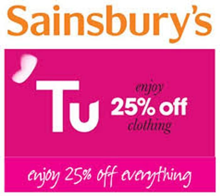 Sainsbury's TU Clothing Sale - 25% OFF EVERYTHING - ON NOW!