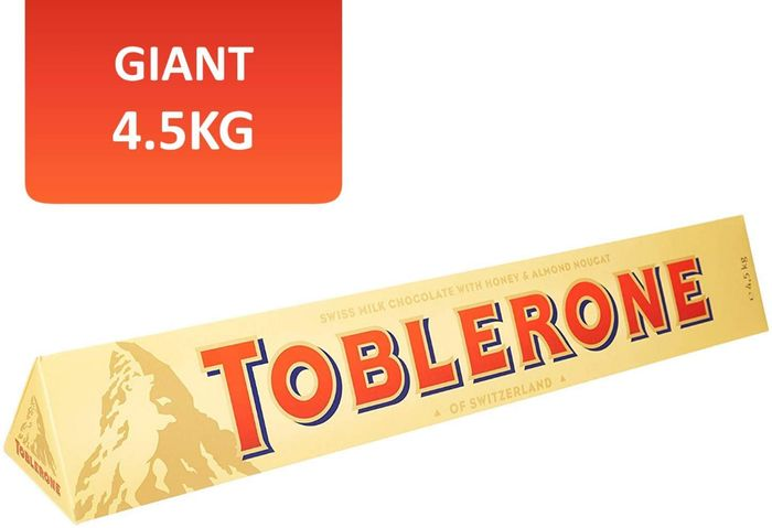 Toblerone Milk Chocolate Jumbo Bar 4.5kg on Sale From £73.99 to £52.99