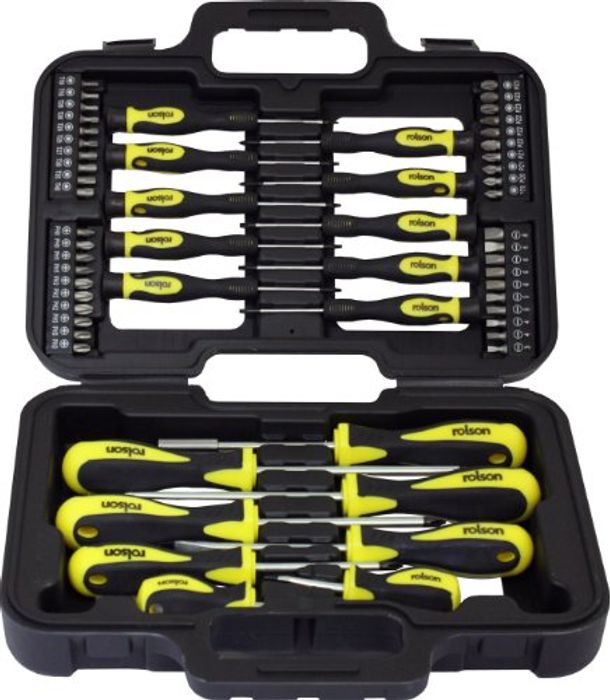 Cheap Rolson 28882 Screwdriver Set - 58 Pieces on Sale From £24.9 to £9.99