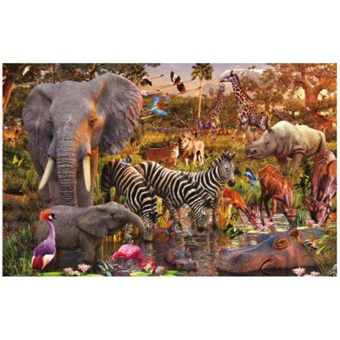 Cheap Ravensburger African Animals Jigsaw Puzzle with £14 Discount - Great buy!