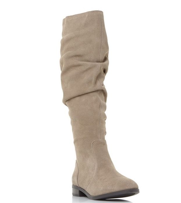 Steve Madden - Taupe Suede 'Beacon' Knee High Boots