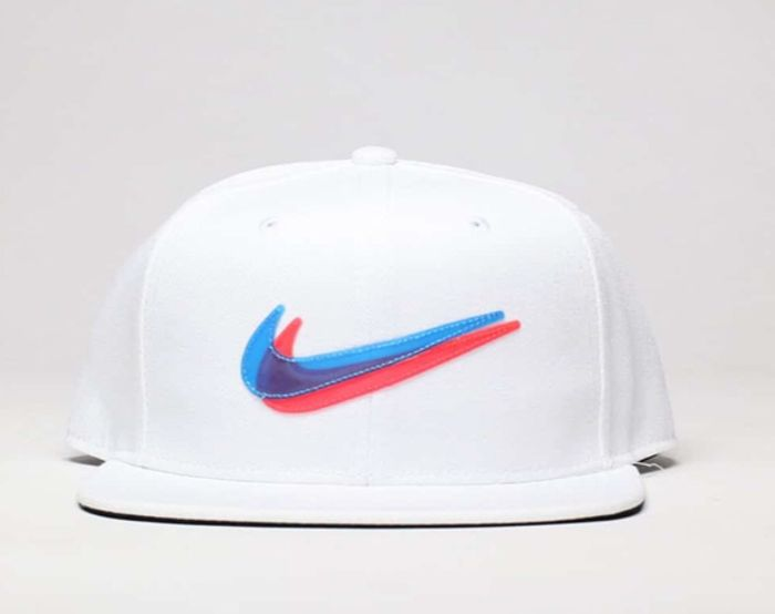 Cheap Nike White & Blue Kids Y Nk Pro Cap Ssnl 3d with 35% Discount!