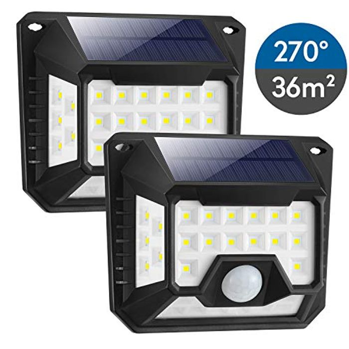 HIFAIRY 64 LED Motion Sensor Security Light with High Efficient Solar Panel