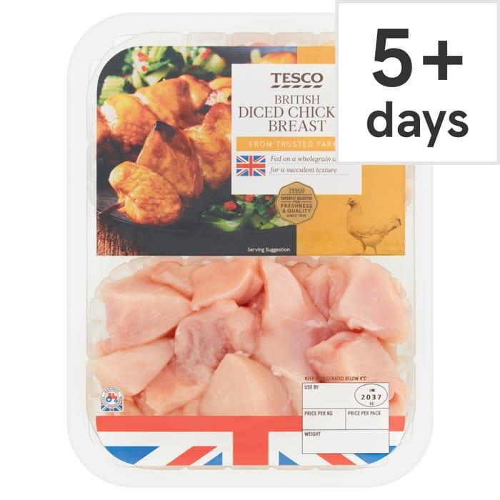 Tesco Diced Chicken Breast 500G