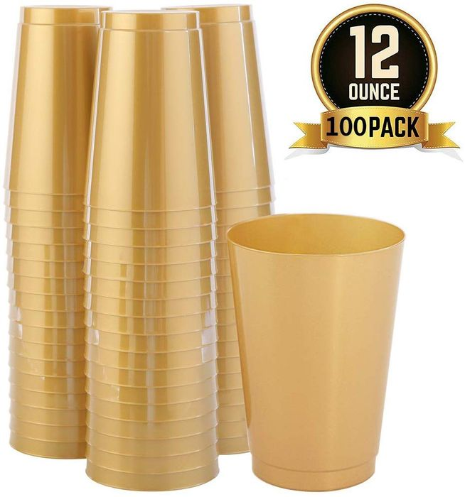 Deal Stack - Gold Plastic Cups - 40% off + Extra £3