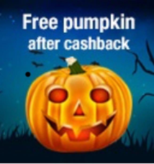 Free Pumpkin with Cashback.