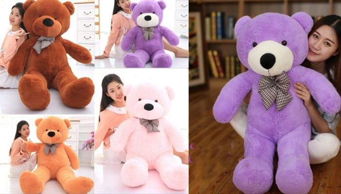Cheap Big Plush Cuddly Teddy Bear - 3 Sizes - Save £32.49!