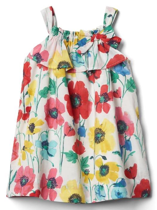 Floral Bow Dress 6-12M Now £5.99