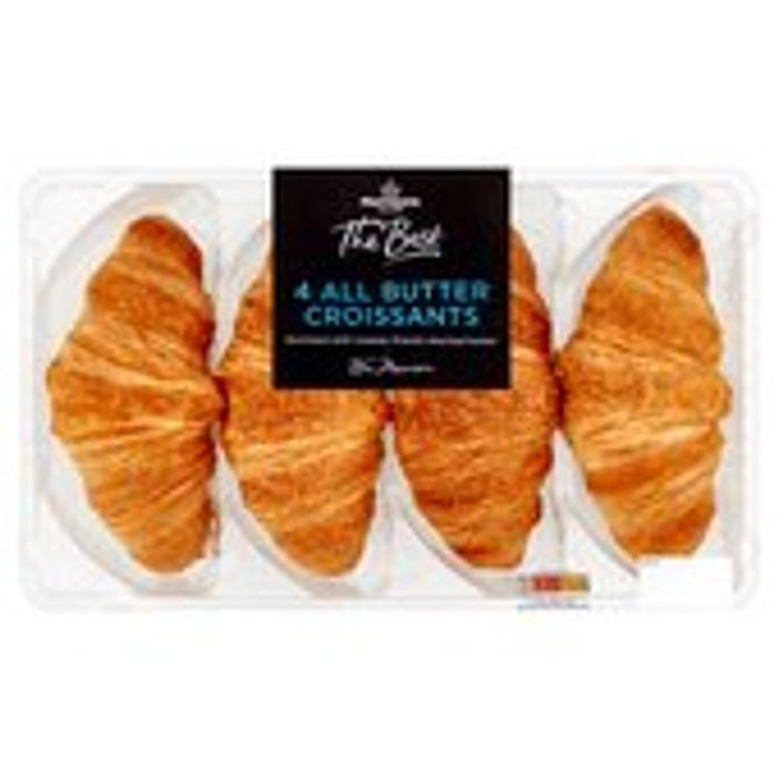 Cheap Morrisons the Best All Butter Croissants 4 per Pack, Only £2!
