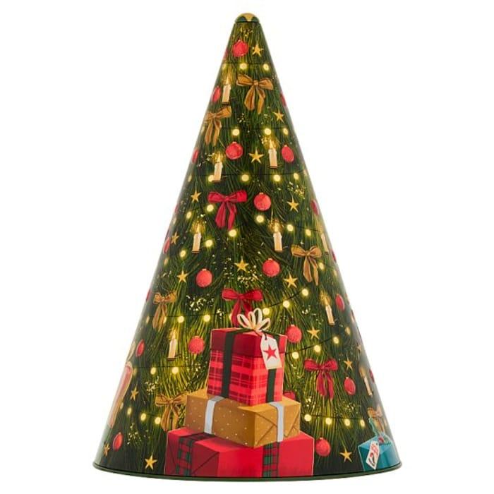 Tesco Musical Christmas Tree Tin 375G - HALF PRICE!