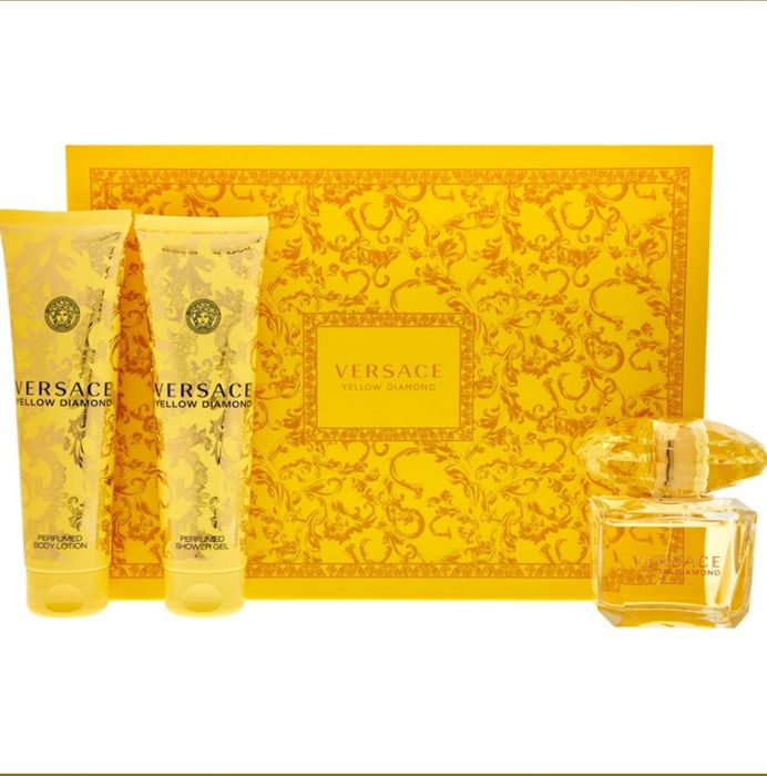 VERSACE Yellow Diamond Shower Gel Body Lotion & Fragrance Set