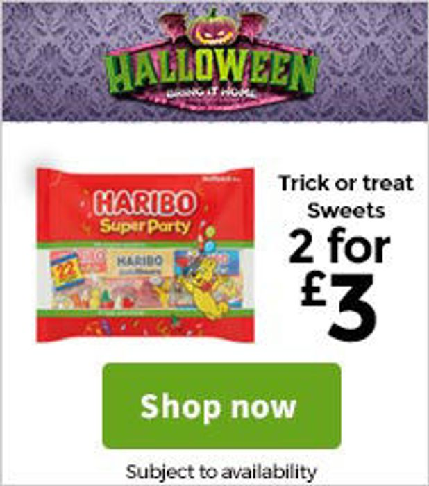 2 for £3 on Halloween Sweets