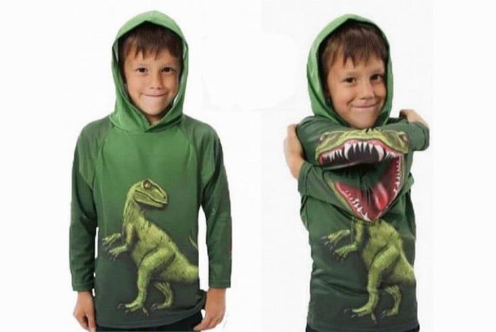 Kids' Dinosaur Print Hoodie