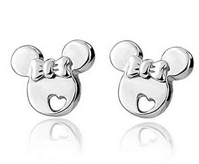 Mickey Mouse Sterling Silver Stud Earrings