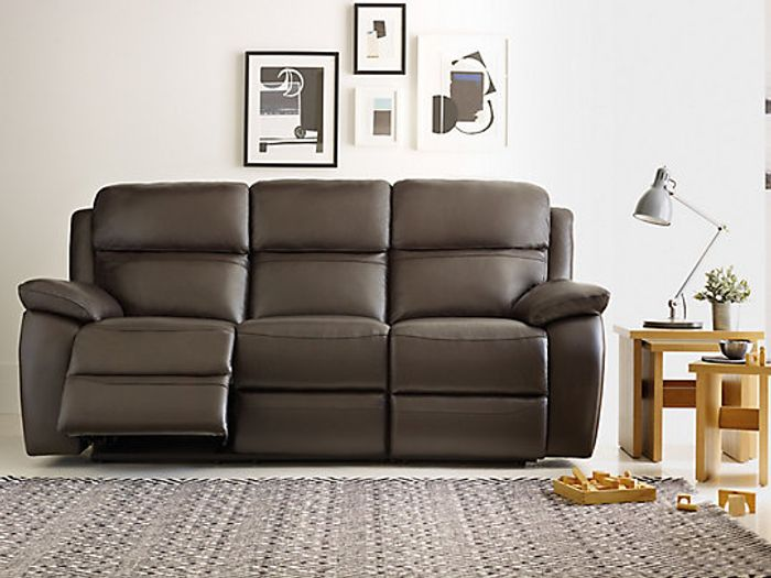 Cheap Warren Leather 3 Seater Sofa, reduced by £899